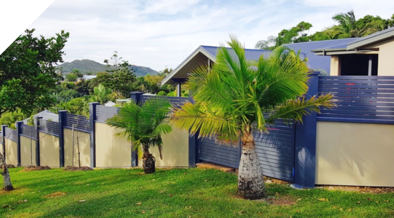 The clients were after the look of a rendered brick fence, but after a lot of research, they discovered 'Quick Built Acoustic Fencing System' and realised not only could they achieve the rendered brick fence at the fraction of the cost and time to build, but they would also get the added benefit of an acoustic sound barrier to help eliminate any noise from the road.