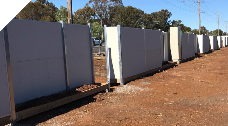 QUICKBUILT DIY Modular acoustic panel wall system used as a Residential Boundary Fence in Dubbo