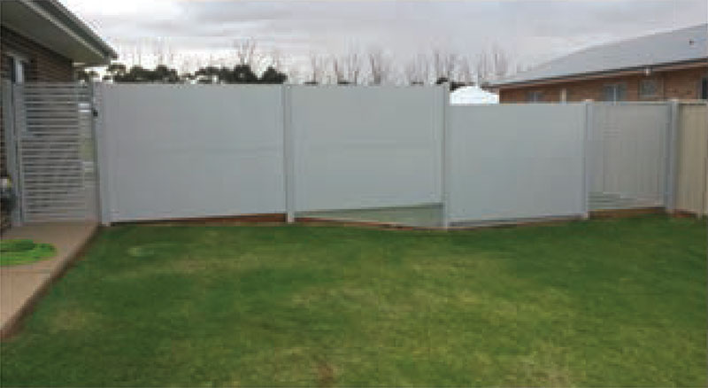 Acoustic Barrier wall for commercial project by QuickBuilt Systems