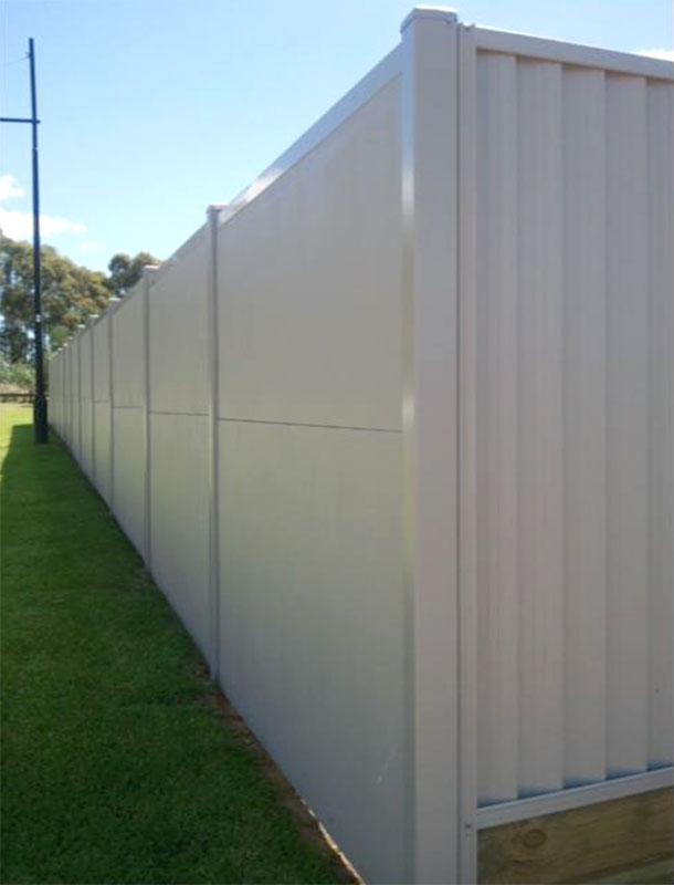 Acoustic Barrier wall for residential project by QuickBuilt Systems