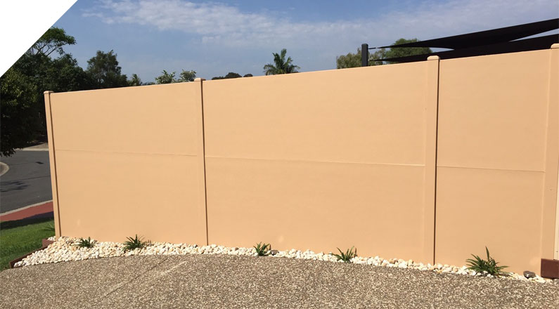 QUICKBUILT DIY Modular sound proof panel wall system used as a Residential Boundary Wall in Melville