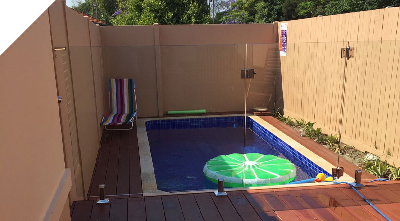QUICKBUILT DIY Modular acoustic panel wall system used as a Pool Privacy Wall in Melville