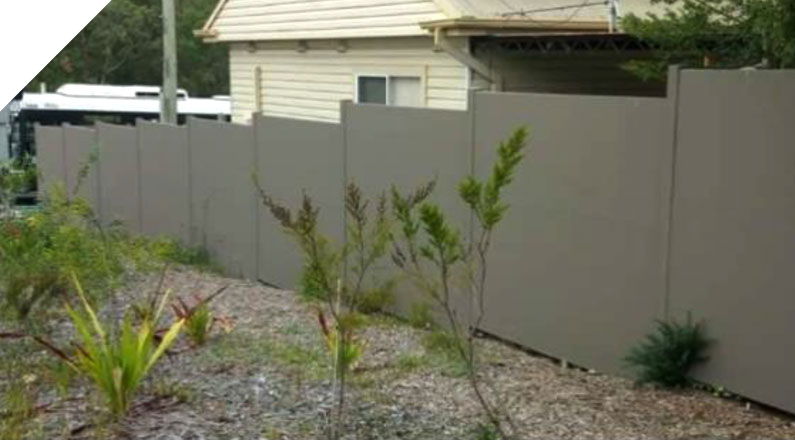 Quick Built Acoustic Fencing System was chosen as the perfect privacy and acoustic barrier solution for this corner block at a very busy intersection in Newcastle, NSW.